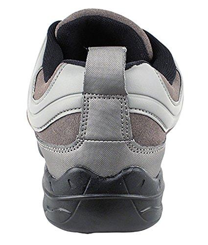 Zeer Fijne Ballroom Latin Tango Salsa Dance Sneakers Schoenen Voor Vrouwen Heren Vfsn011 + Opvouwbare Borstel Bundel Grijs