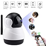1080P Wireless Dome Camera Pan/Tilt/Zoom Panoramic Home Camera Indoor Security Surveillance System for Baby/Elder/Pet/,Night Vision and Motion Tracker, Remote Monitor with iOS