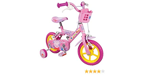 Peppa Pig Bike - Bicicleta, Rueda 12 in, Color Rosa: Amazon.es ...