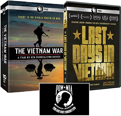 The Vietnam War: A Film by Ken Burns and Lynn Novick + American Experience: Last Days in Vietnam DVD Set with POW*MIA Decal by