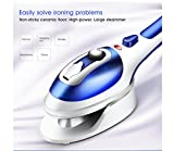 Hysada [Upgraded Version] Handheld Garment Steamers, Portable Travel Iron Steamer, Handheld Fabric Steamer, Household Steamer, Portable Clothes Steamer for Home and Travel, Blue