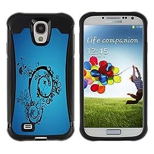 Suave TPU Caso Carcasa de Caucho Funda para Samsung Galaxy S4 I9500 / Blue Abstract / STRONG