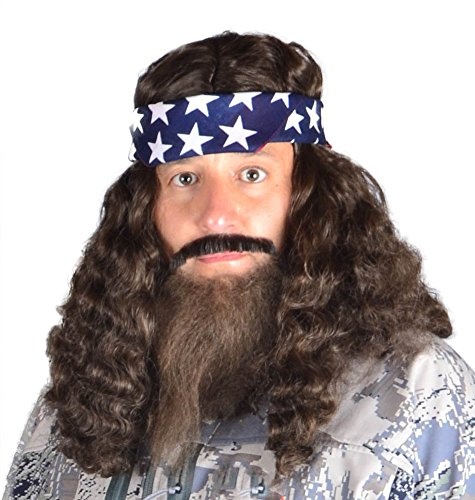 My Costume Wigs Duck Dynasty Willie Set One Size Fits All - Million Dollar Man Costume
