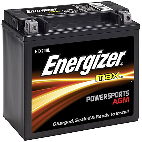 Energizer ETX20HL AGM Motorcycle and ATV 12V Battery, 310 Cold Cranking Amps and 18 Ahr.  Replaces: YTX20L-BS and others
