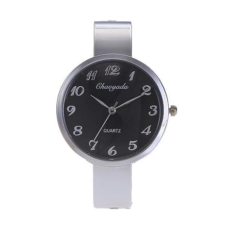 HWCOO Reloj creativo de las mujeres del reloj de moda reloj creativo pulsera comercial reloj explosivo (Color : 1) : Amazon.es: Relojes
