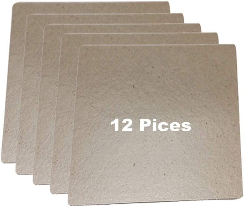 12 Pieces Microwave Oven Repairing Part Mica Plates Sheets Waveguide Cove(150X120mm, Cut to Size)