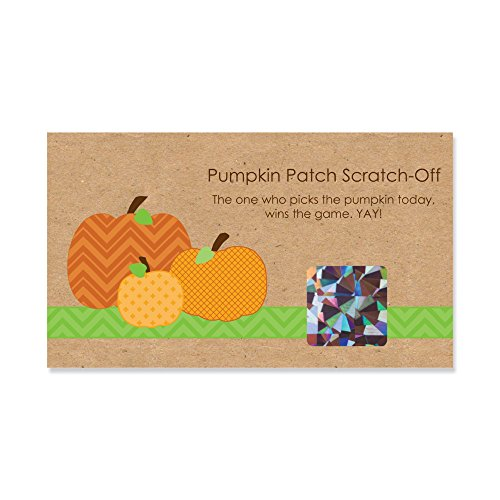 Big Dot of Happiness Pumpkin Patch - Fall & Thanksgiving Party Game Scratch Off Cards - 22 Count
