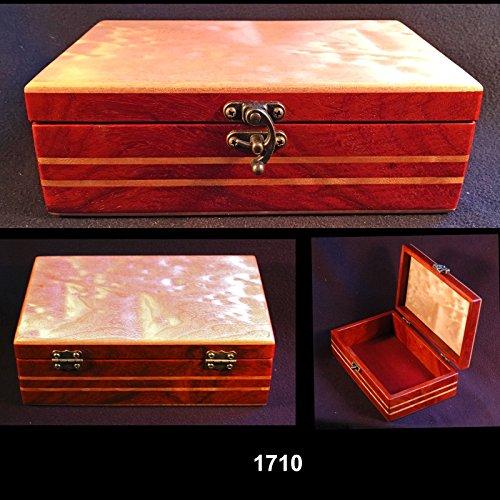 Small treasures box. Bubinga and figured maple. Body inlaid with figured maple. One-of-a-kind (Bubinga Body)