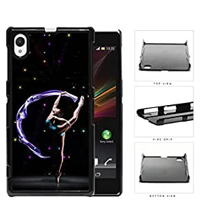 Ballerina Performance With Galaxy Theme Hard Plastic Snap On Cell Phone Case Sony Xperia Z1