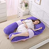 Aminiture Oversize U Shaped Pregnancy Body Pillow with Zipper Removable Cover