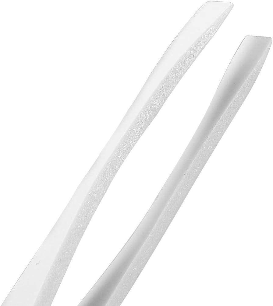 uxcell Milky White Soft Plastic Slant Tip Anti-static Tweezers 4.7 Inch Length 3pcs