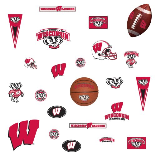 RoomMates RMK1109SCS University of Wisconsin Peel & Stick Wall Decals