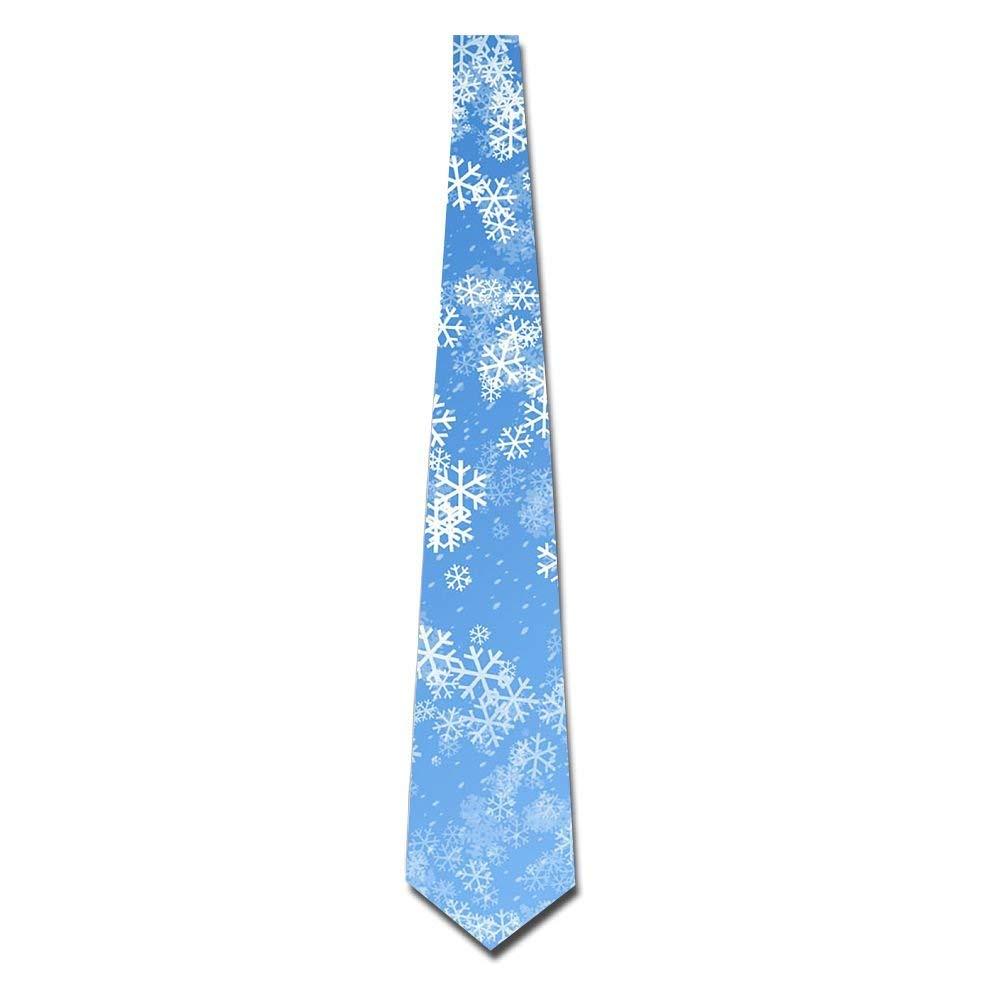 Sky Snowflake Eco-friendly Mens Popular Tie Krawatte Neckwear Neckcloth Choker Neck Tie 8CM