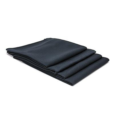 "[Diamond Glass] Microfiber Window and Chrome Towel (16""x16"") - 4 Pack (Black): Automotive"