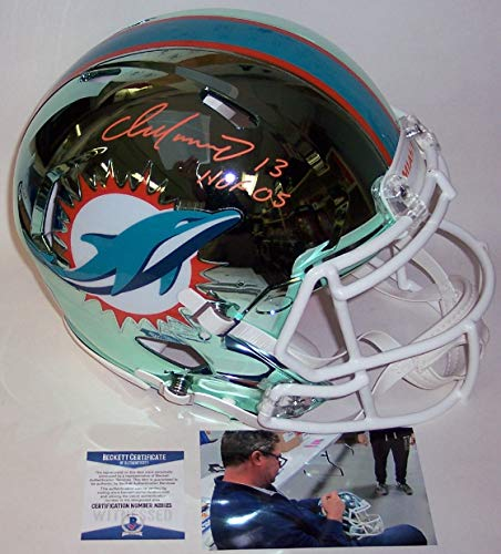 Dan Marino Autographed Hand Signed Riddell San Francisco 49ers Chrome Speed Full Size Authentic Pro Football Helmet - with Hall of Fame 2005 inscription - BAS Beckett Authentication