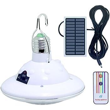 LISOPO 22LED Solar Remote Control Lights,Portable Outdoor Solar Lamp Hooking Garden Camp Emergency Lighting Chandelier
