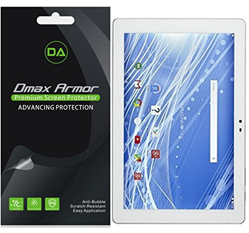 Dmax Armor [3-Pack] for Insignia Flex 10.1 inch (NS-P16AT10/NS-P10A6100) Screen Protector, Anti-Bubble High Definition Clear Shield- Lifetime Replacements Warranty- Retail Packaging