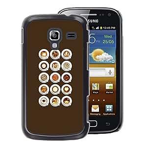A-type Arte & diseño plástico duro Fundas Cover Cubre Hard Case Cover para Samsung Galaxy Ace 2 (Barista Caf?Cappuccino Foam)