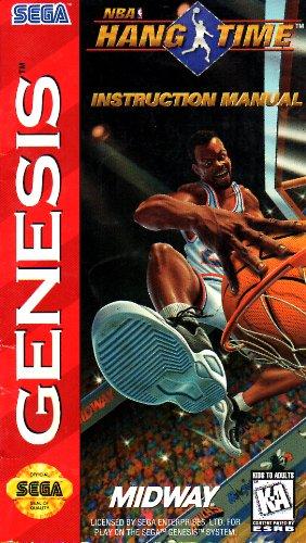NBA Hang Time Sega Genesis Instruction Booklet (SEGA GENESIS MANUAL ONLY - NO GAME) Pamphlet - NO GAME INCLUDED (Best Sega Genesis Games Of All Time)