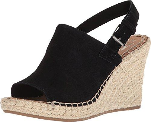 Dress Black Wedge Heel Sandals - TOMS Women's, Monica Wedge Espadrille (10, Black Suede)