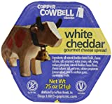 GoPicnic Copper Cowbell White Cheddar Gourmet Cheese Spread, Portion Cups, 50 Count