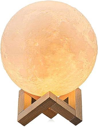 Dealbay 3d Mond Lampe Kugel Led Nachtlampe Moderne Stehleuchten Dimmbar Touch Control Helligkeit Usb Wiederaufladbar Mondscheinlampe Fur Geschenk Tischlampe Zum Kinder Mit Stand 20 Cm Amazon De Beleuchtung