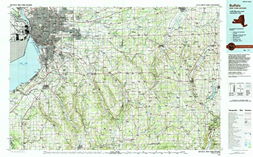Buffalo NY topo map, 1:100000 scale, 30 X 60 Minute, Historical, 1984, updated 1994, 24.1 x 38.9 IN - Paper