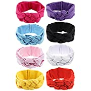 LCY 8Pcs Baby Girl Beautiful Celtic Knot Headband Head Wrap Knotted Hair Band