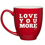Best Good Gift Boyfriend Mugs - HUHG Love You More Red Coffee Mug Review
