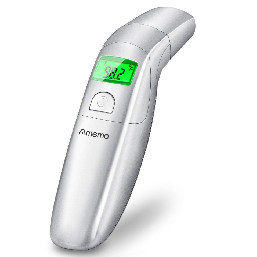 Ear Thermometer with Forehead Function - Medical Thermometer for Baby and Adults - Fever Indicator, 1-Second Quick Accurate Reading, Digital Infrared - New Medical Algorithm (Silver)