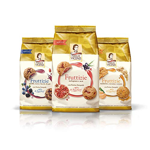 Test Pack Matilde Vicenzi Fruttizie with wholemeal Flour 3 x 175 g Biscuits