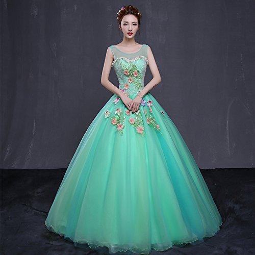 Sposa Da Femminile green Bright JKJHAH Abito z1xqwF0