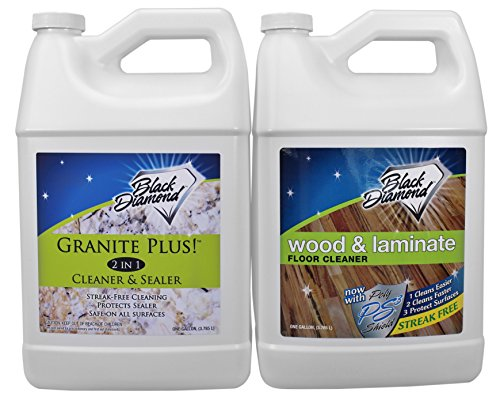 - Granite Plus! 2 in 1 Cleaner & Sealer for Granite, Marble, Travertine, Limestone (1-Gallon). Wood & Laminate Floor Cleaner: for Hardwood, Real, Natural & Engineered Flooring (1-Gallon)