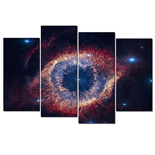Framed Painting Large Abstract The Helix Nebula Canvas Print