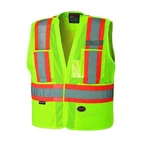 Vest Tear Safety Away (Pioneer V1021560U Hi-Vis Safety Tear-Away Vest - Yellow/Green (2/3XL))