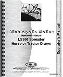 Minneapolis Moline LS 300 Manure Spreader Operators Manual