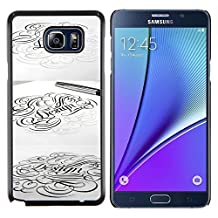 Planetar® ( Calligraphy Artist Pencil Pen Ink Tattoo ) Samsung Galaxy Note 5 5th N9200 Hard Printing Protective Cover Protector Sleeve Shell Case Cover