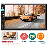 Upgraded Version Double Din Car Stereo 7 Inch Touch Screen in-Dash Head Unit MP5 Player USB FM Radio Car Audio Receiver Compatible with Bluetooth Support Backup Rear View Camera Mirror Link