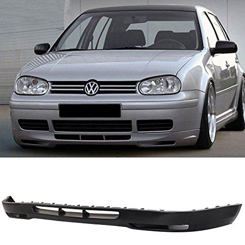 Bumper Splitter Fits 1999-2004 Volkswagen Golf MK4 | GLI Style Front Bumper Lip - PU by IKON MOTORSPORTS | 2000 2001 2002 2003