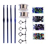 Art Night Out Party Kit for 4 People Makes 4 Crochet Wire Jewelry Necklaces or Bracelets, Silver with