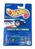 Hot Wheels Corvette Split Window Blue Collector Number 197 5 Spoke All Blue Card