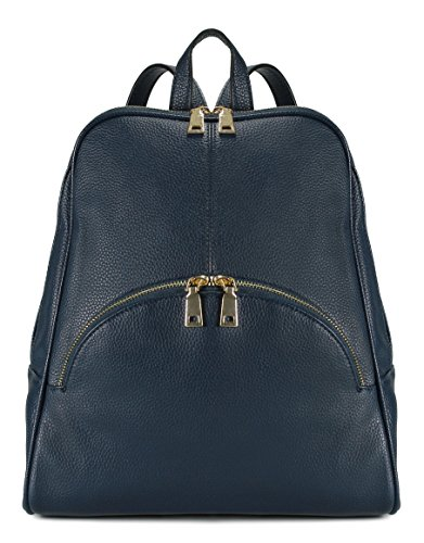 Scarleton Chic Casual Backpack H160819 - Navy (Blue Leather Handbags)