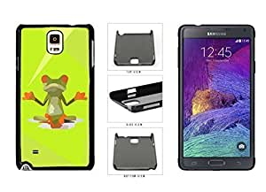 Tony Diy Yoga The Peaceful Frog and Plastic cell phone case cover Back to Cover Samsung Galaxy Note IV 4 N910 x7X5dTctuzp the