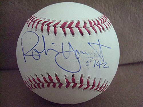 (Robin Yount Autograph Steiner Offical MLB Baseball Autographed Signature 3142)