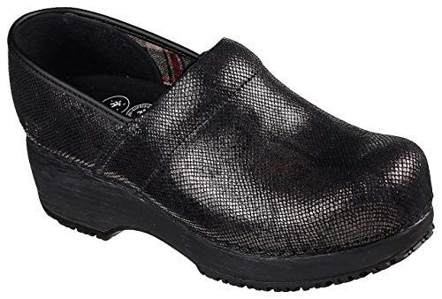 Clog Work Skechers - Skechers Work Clog SR Slip Resistant Womens Shoes Black 8.5