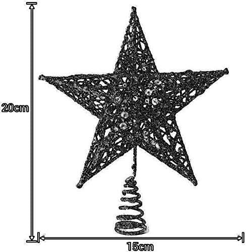 Bigherdez Sapin de No/ël Top Star Pentgram Decorations Mall Home D/écorations de No/ël Pendentif de d/écoration de Sapin de No/ël Blanc