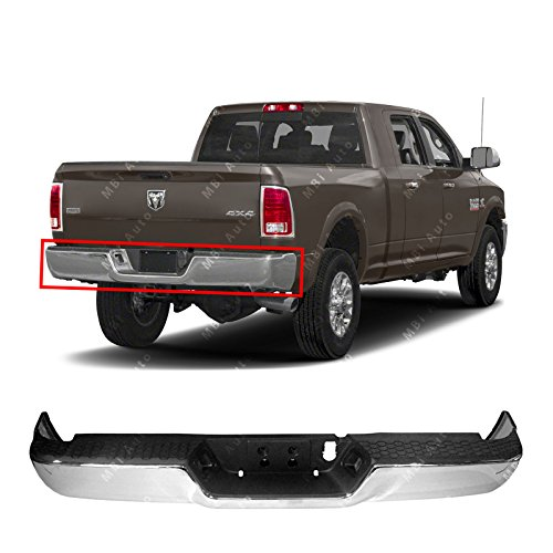 MBI AUTO - Chrome, Steel Rear Step Bumper Complete Assembly for 2013-2018 RAM 2500 3500 13-18, CH1103128