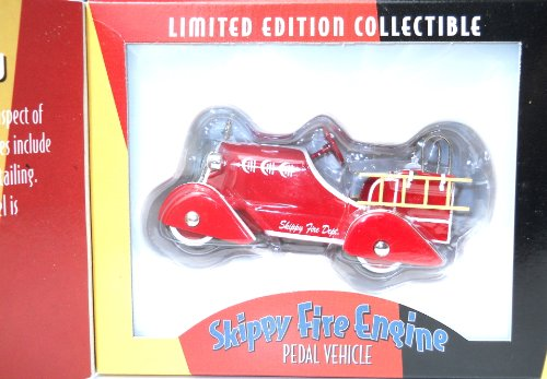 1930's Skippy Fire Engine Pedal Car Replica Limited Edition Collectible