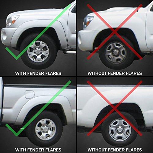 Amazon.com: Premium Heavy Duty Molded 2005-2015 Tacoma Mud Flaps ...