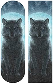 "Wolf Skateboard Grip Tape 9""x33"" Anti Slip Sandpaper Longboa"